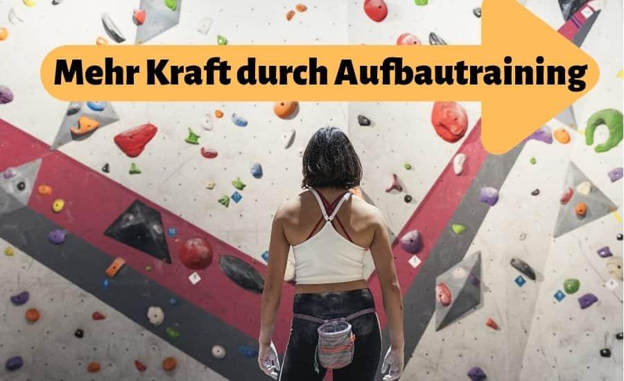 Klettern Aufbautraining Titelbild