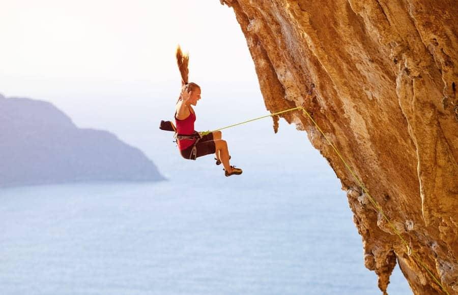 Klettern Sturztraining Sturzangst