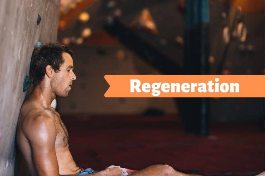 Klettern und Bouldern Regeneration