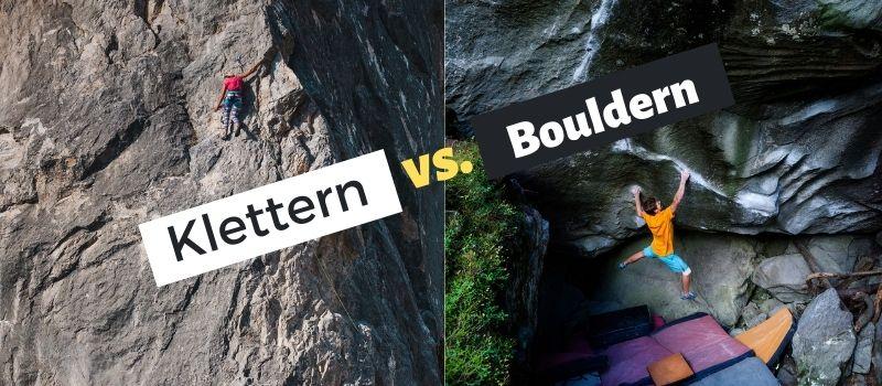 Klettern vs. Bouldern Unterschiede