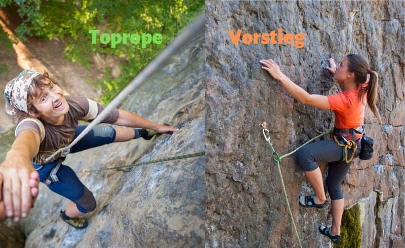 Felsklettern-Kurs-Vorstieg