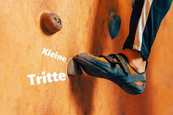 Bouldertechnik-Übungen-Tritte