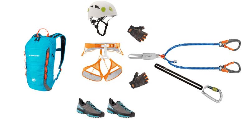 Klettersteig komplette Ausrüstung