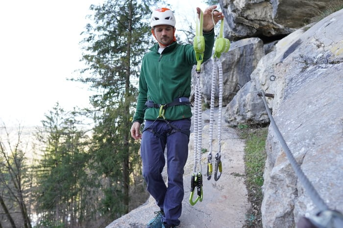 Klettersteigset test Gewicht