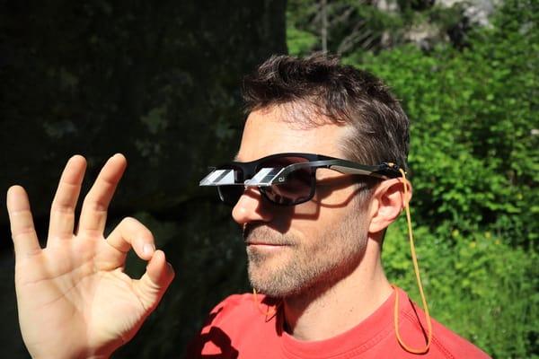 Sicherungsbrille mit Sonnenbrille