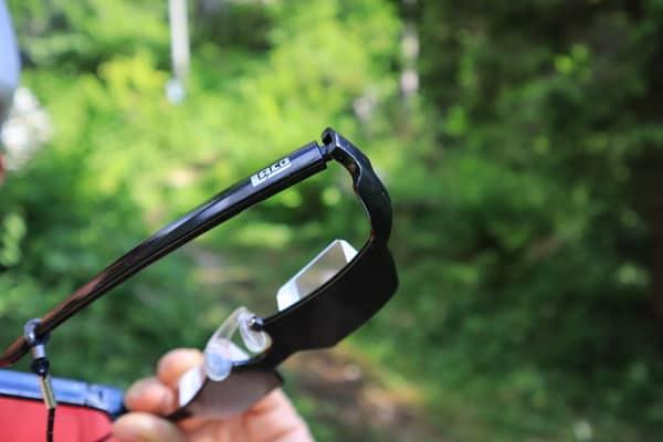 Sicherungsbrille Scharnier
