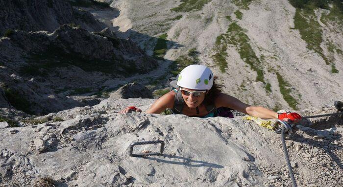 Klettersteig Kletterhelm test