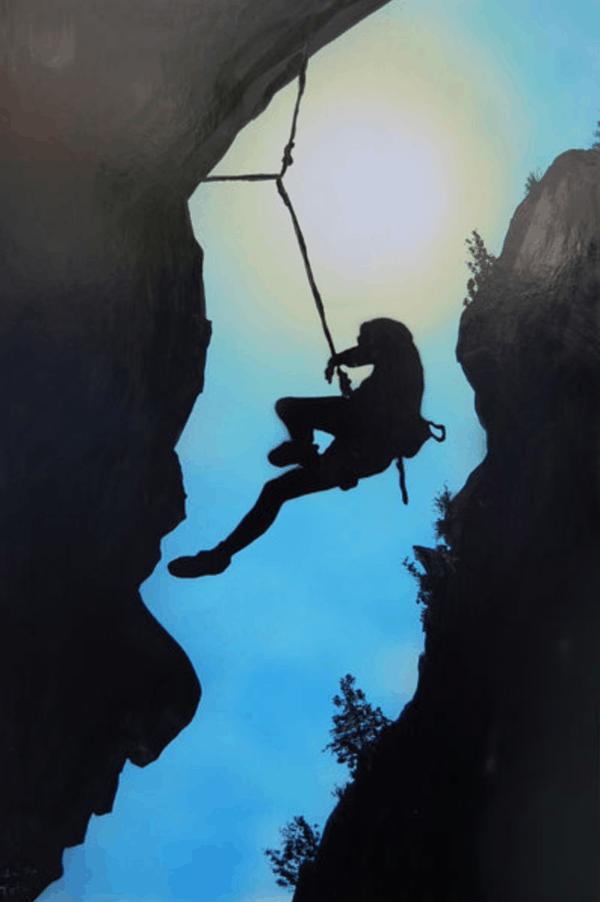 klettern Kunst Bild Geschenk