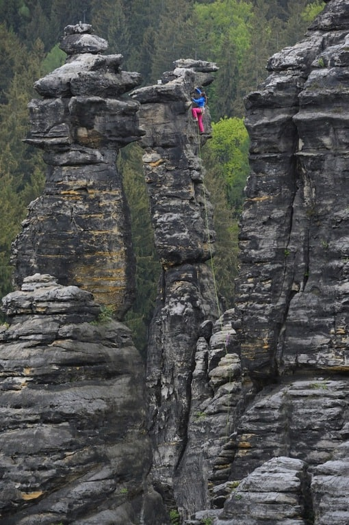 Bielatal Klettern Elbsandstein
