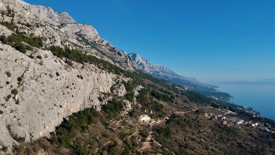 Brela Klettergebiet kroatien