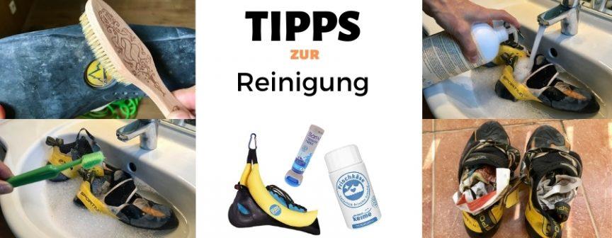 Kletterschuhe reinigen pflegen waschen geruch beseitigen