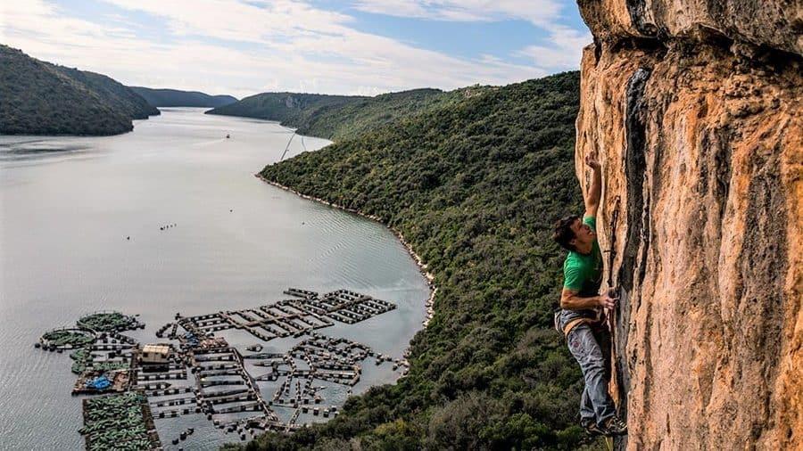 Limiski Kanal Klettergebiet Kroatien