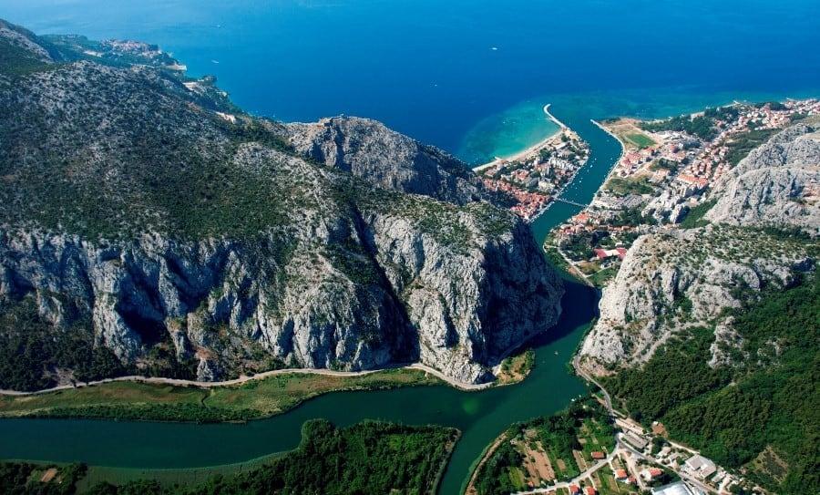 Omiš klettern Kroatien