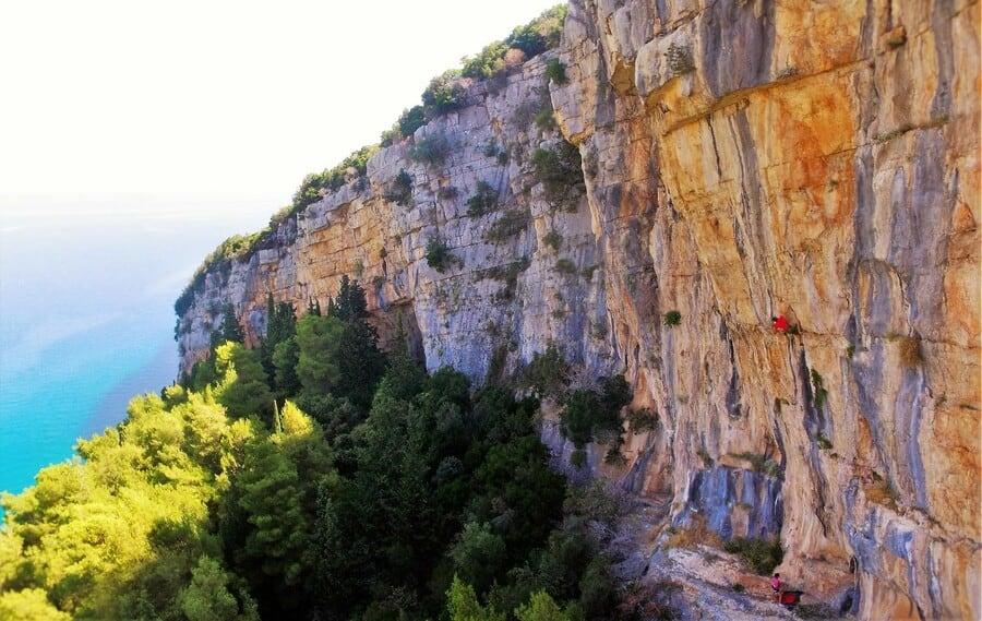 Pokrivenik Klettern Kroatien Hvar
