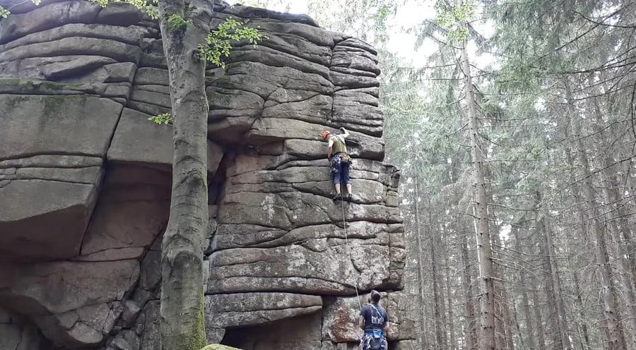 klettern im Harz