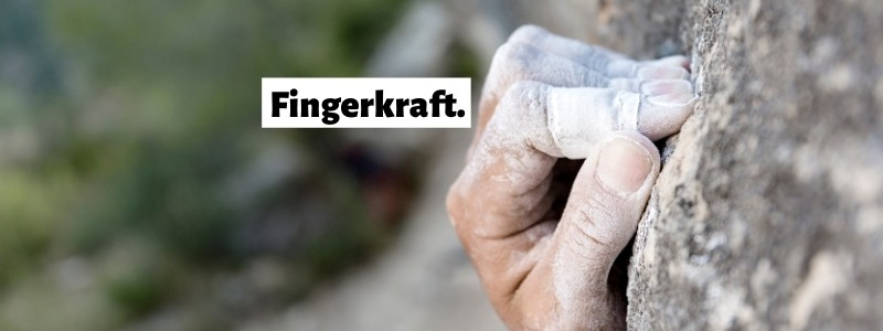 Fingerkraft Training Klettern Bouldern