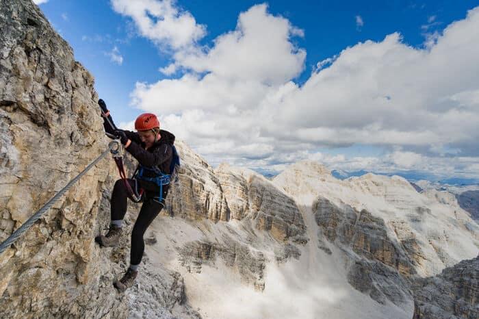 Klettersteig Schuhe hoher Schaft