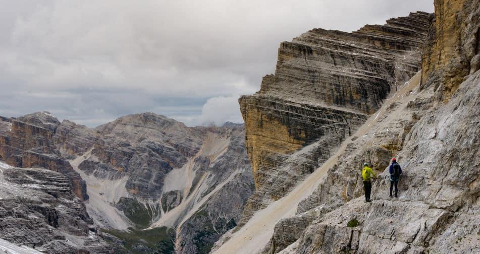 Klettersteig Abstieg
