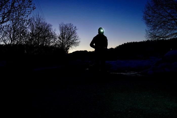 Stirnlampe joggen laufen