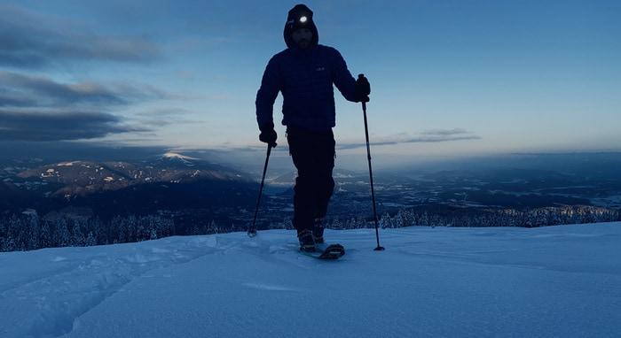 Stirnlampe Winter Sport