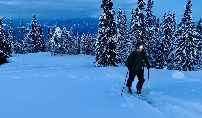 Stirnlampe für Skitour