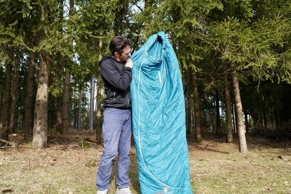 Kunstfaser-schlafsack test grüezibag