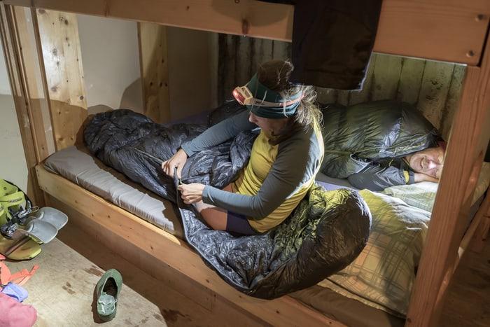 Schlafsack Hütte