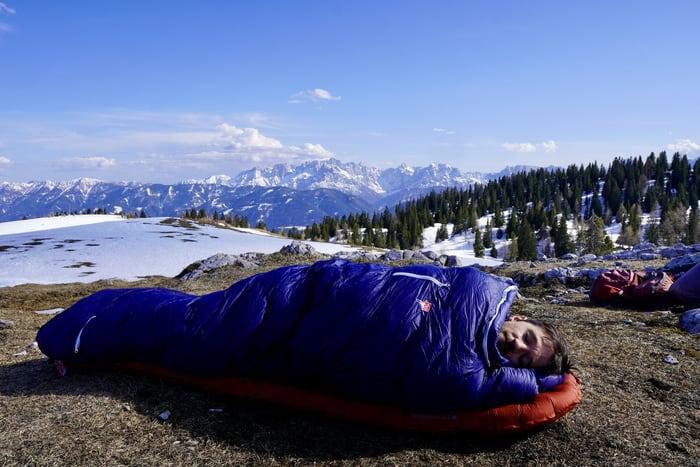3 Jahreszeiten Schlafsack Grüezi Bag Test