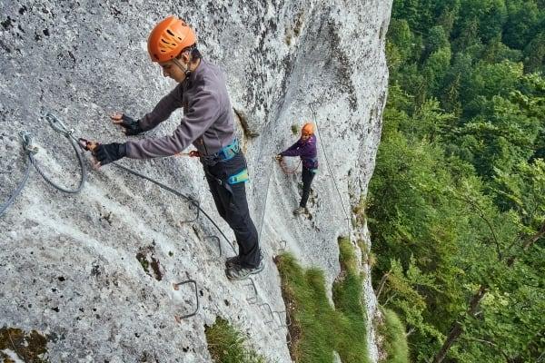 Klettersteig Tipp Abstand halten