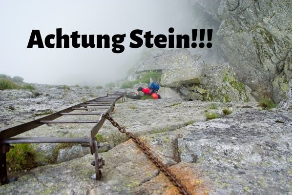 Tipp Klettersteig Steinschlag