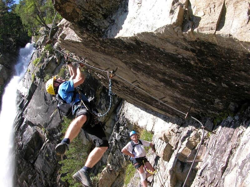 Klettersteig Überhang