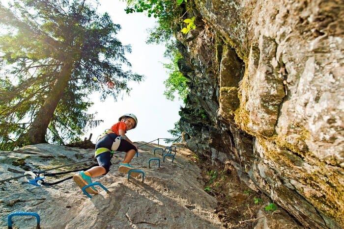 Klettersteig für Kinder