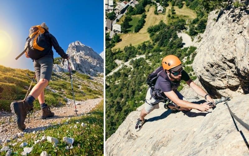 Klettersteig vs Wandern